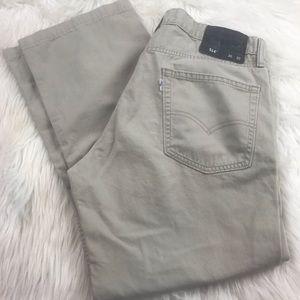 Men's Levi's 514 khaki jeans size 36x30